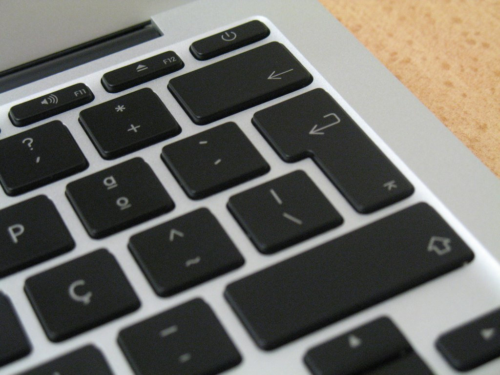 Portuguese keyboard detail