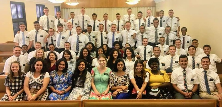 Zone conference for elders and sister missionaries in the Brazil Recife mission under President and Sister Houseman--January 2019.